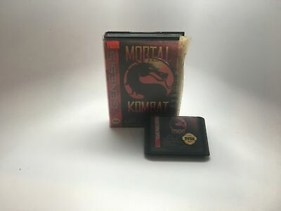 Mortal Kombat - Sega Genesis Game And Box Only *Cleaned And Tested*