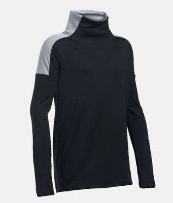 Underarmour Girls Cozy ColdGear Long Sleeve Black White Size 9-10 Years *REF73
