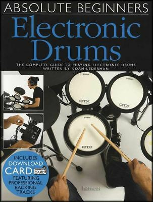 Absolute Beginners Electronic Drums Music Book with Audio Learn To Play Method