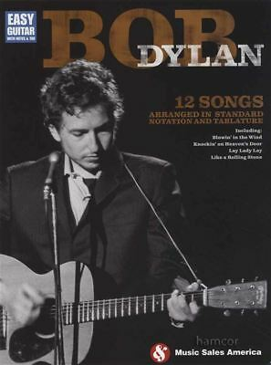 Bob Dylan Easy Guitar with Notes & TAB Music Book