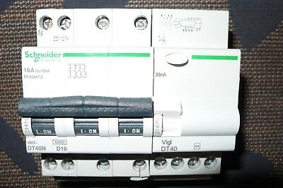 DISJONCTEUR DIFFERENTIEL 4POLE 16A 30mA COURBE D SCHNEIDER ELECTRIC MERLIN GERIN