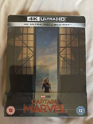 Captain Marvel 4K Ultra HD (UHD) + 2D Blu-ray Limited Edition Steelbook *NEW*