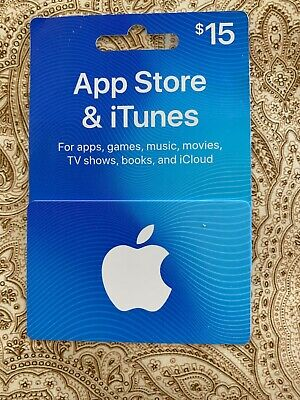 $15 Apple iTunes Gift Card. Ready to use. Apple App store.