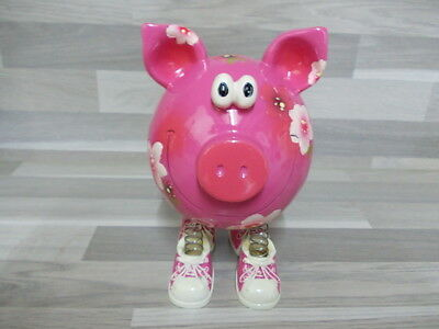 Very nice piggybank Money box with spring legs ornament decorative coin bank