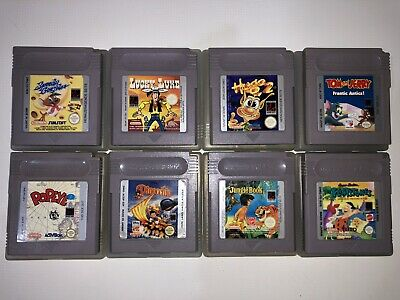 Exclusivo Lote 9 Juegos Gameboy Gb Series De Tv Y Dibujos Muchos Raros Game Boy