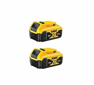 2x2019 NEW Genuine Dewalt DCB205-XE DCB184 18v 5.0Ah XR Li-Ion  Slide Battery