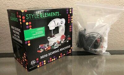 Style Elements Mini Sewing Machine 100 ACCESSORIES 2 SPEEDS Great Daughter Gift!