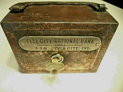 W.f.burns Co. Tell City National Bank Tell City, Indiana 1/Key # 418 Antique