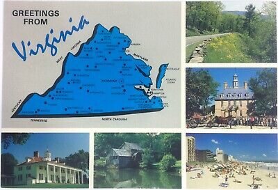 1990s Postcard Greetings from Virginia Post Card #B4A