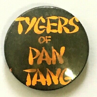 TYGERS OF PAN TANG - Old OG Vtg 70/80`s Button Pin Badge 25mm Heavy Metal NWOBHM