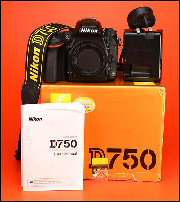 Nikon D750 Digital 24MP SLR Camera + Battery, Charger & Box.  Only 15,405 Shots