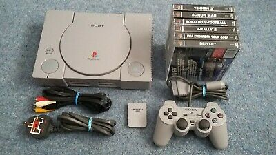 Sony Playstation 1/PS1 Console With 6 Games Tested And Working Driver/Tekken