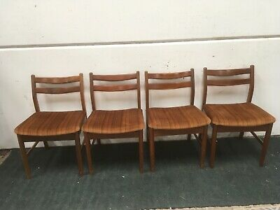 4 x  Dining Chairs . Vintage Retro  Set Of Four. Danish Era