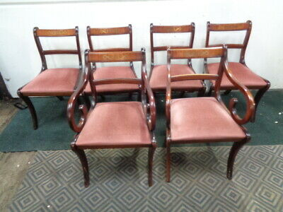 Set of 6 Dining Chairs Regency Style  Vintage