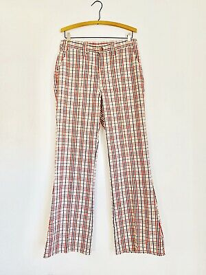 Vintage 60's - 70's Men's Levis Big E Sta-Prest Plaid Straight Pants