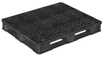 ZORO SELECT 40X48 HD PP RACKO BLACK Pallet,5,000 lb.,48 In. L,40 In. W,Black