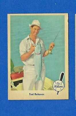 1959 FLEER Baseball #77 TED WILLIAMS TED RELAXES  EX BOSTON RED SOX