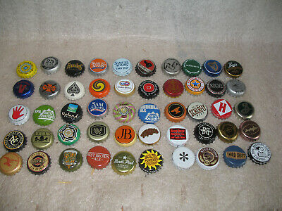 LOT of 50 Beer Ale Bottle Caps - Each different mostly Craft Beers Lot 9