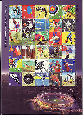 MS3204a London 2012 Olympic Stamp Sheet of 30 (face velue £21)  scarce