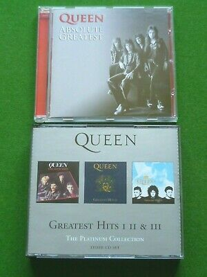 Queen CD Bundle Greatest Hits I, II & III Platinum Collection Box Set & Absolute