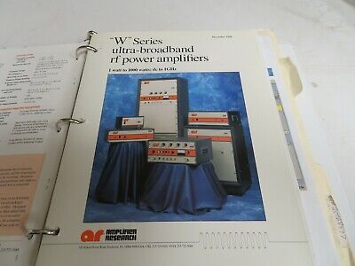 Amplifier research W series ultra-broadband rf power amplifiers  manual NB56 *