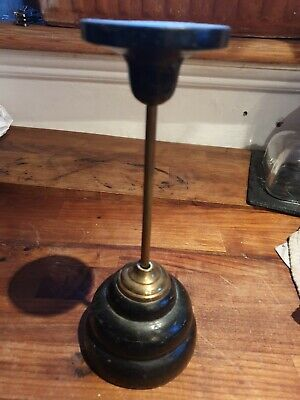 Antique mahogany wig/hat stand early 1800s ..very rare 22 cms tall