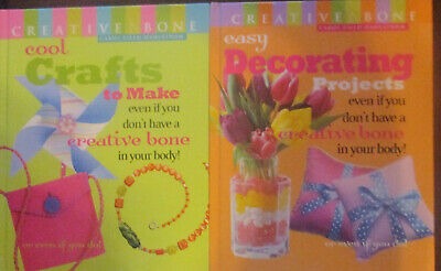 Lot of 2 Creative Bone Books Cool Crafts Decorating Projects Dahlstrom NEW