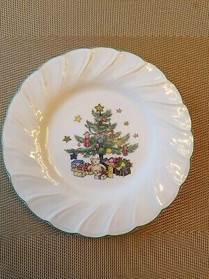 "NEW Nikko Happy Holidays Christmas Dessert Plate 7"" MINT"
