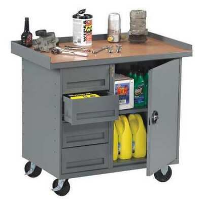 TENNSCO MB-1-2542MG Mobile Workbench with Cabinet,1 Drawer
