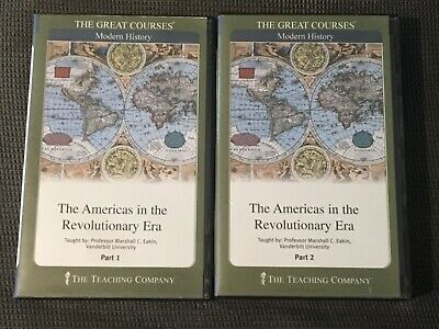 Great Courses: Americas in the Revolutionary Era 12 CDs + 2 Guidebooks