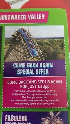 Lightwater Valley Money Off Voucher Coupon