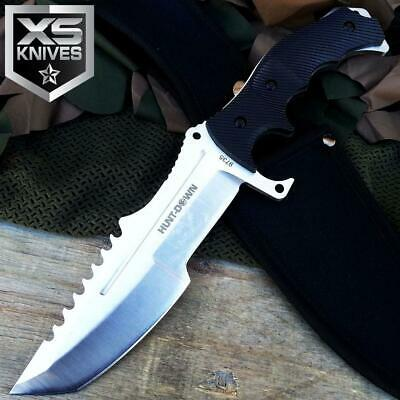 "11"" Tactical FULL TANG Military Hunting COVERT Combat SURVIVAL Knife W/ Sheath"