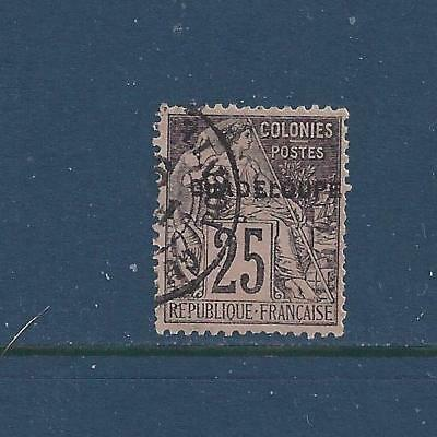 """Guadeloupe - 21 - 22 - Used - 1891 - """"Guadeloupe"""" O/P On French Colonies Stamps"""