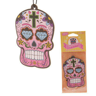 Day Of The Dead Mexican Floral Sugar Skull Cherry Car Room Air Freshener 9.5cm