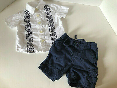 Baby Boys 3-6 Month Summer Outfit, Old Navy Shirt & Shorts, Nice!!