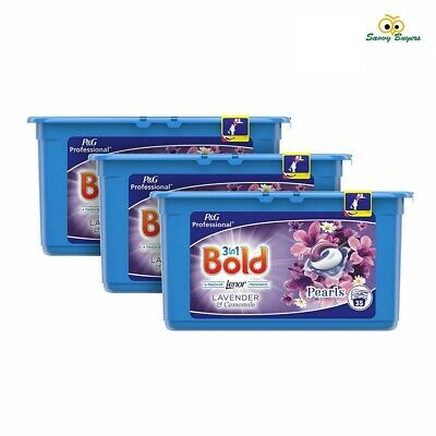 Bold 3 in 1 Lavender & Camomile Liquitabs - Laundry Detergent pods - 3 x 35 Pack