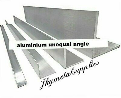 UNEQUAL SIDED 90 DEGREE ANGLE / Corner Protector Angle  - ALUMINIUM - many sizes