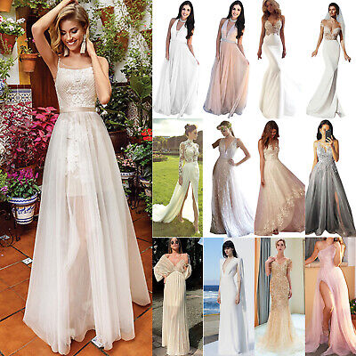 Women Maxi Dress Bridesmaid Prom Swing Ball Gown Wedding Cocktail Evening Party