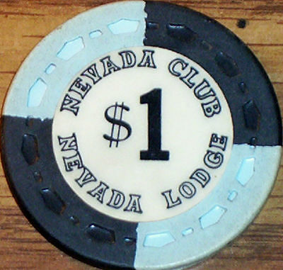 Old $1 NEVADA CLUB Casino Poker Chip Vintage Antique Small Crown Mold Reno 1964
