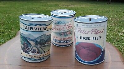 Still Savings Bank Vtg Lot 3 Tin Forest City, Peter Piper, and Fairview