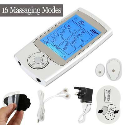Tens Machine Rechargeable Digital Therapy Shoulder Muscle Sciatic Pain Relief Lw