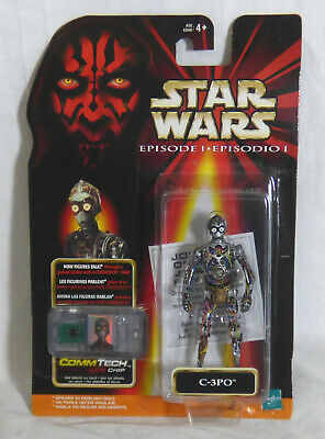 Hasbro Star Wars Episode One C-3PO with Commtech Chip ** New **