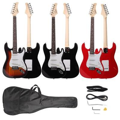 New 3 Colors GST Rosewood Fingerboard Electric Guitar Beginner Packages