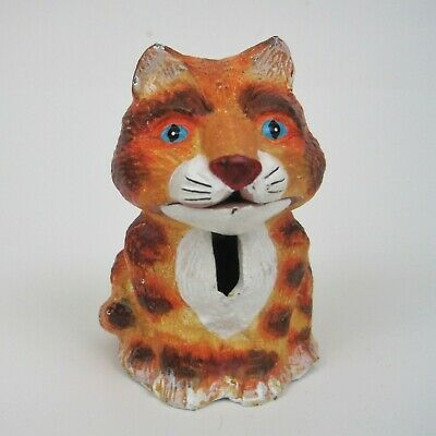 Vintage Cast Iron Tiger Cat Novelty Coin Bank by Bits and Pieces