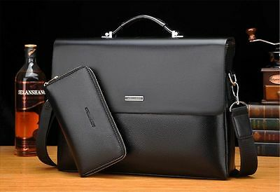 New Mens Classic Business Leather Briefcase Bag Handbag Laptop Shoulder Bags