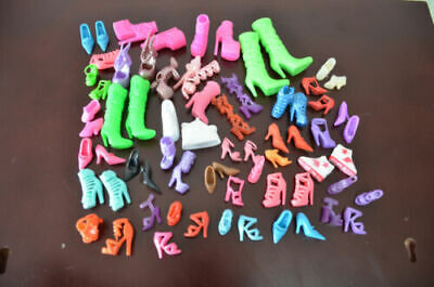 20Pairs Fairy Tale CINDERELLA Crystal Barbie Shoes Doll Shoes For Barbie Doll