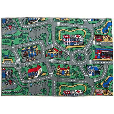 Childrens Play Rugs Activity City Roads Track Learning Rug Mat