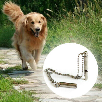 Professional Adjustable Pitch Dog Whistle Ultrasonic Chain Pet Training With Cap