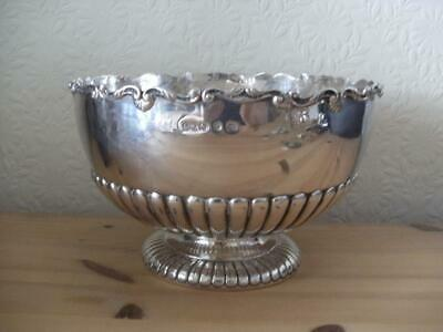 SUPERB STERLING SILVER FRUIT PUNCH BOWL Birmingham 1894 637.2g