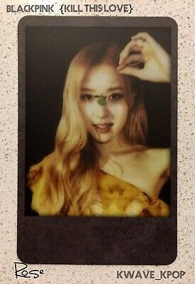 Blackpink 블랙핑크 Kill This Love Black Ver. Official Polaroid Photo Card Only -Rose